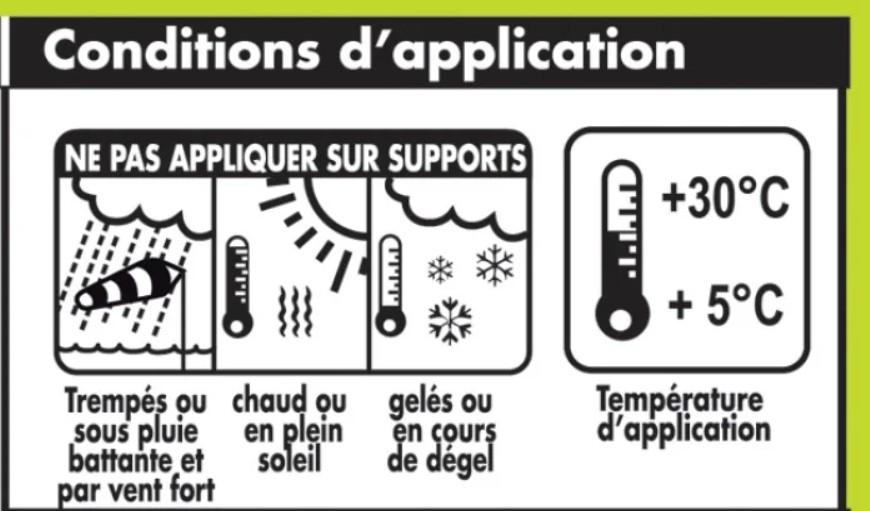 Scellement faitage par température gel