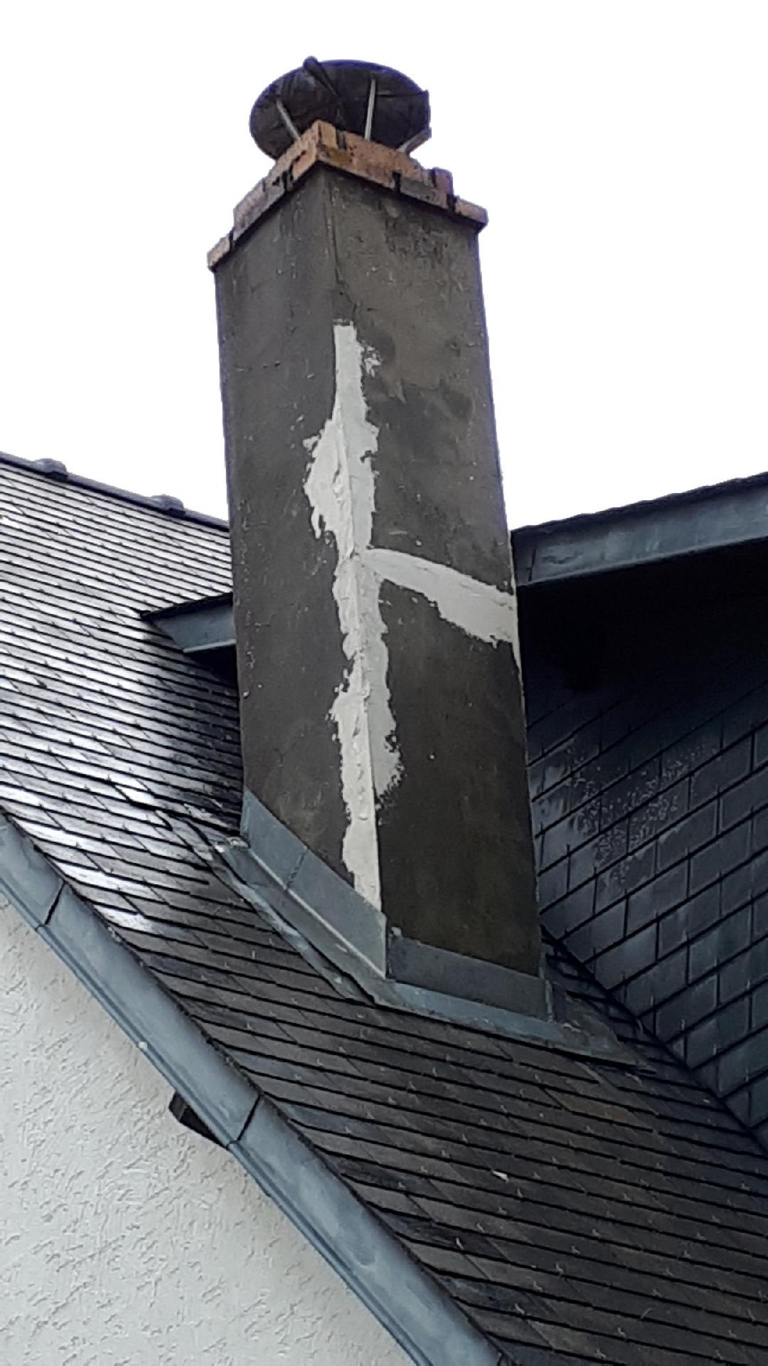 Infiltration eau de pluie par cheminée