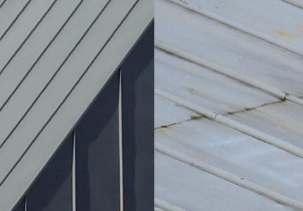 Evolution de la couleur d\'une toiture zinc dans le temps (2019)