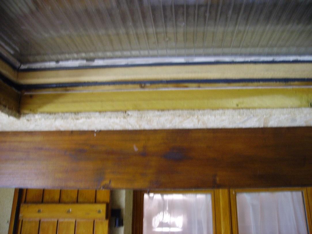 Infiltration d'eau sur couverture en ardoise fibrociment