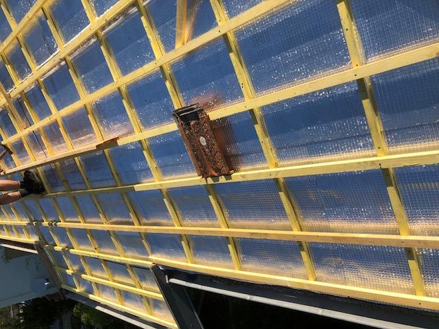 Plancher sur toiture
