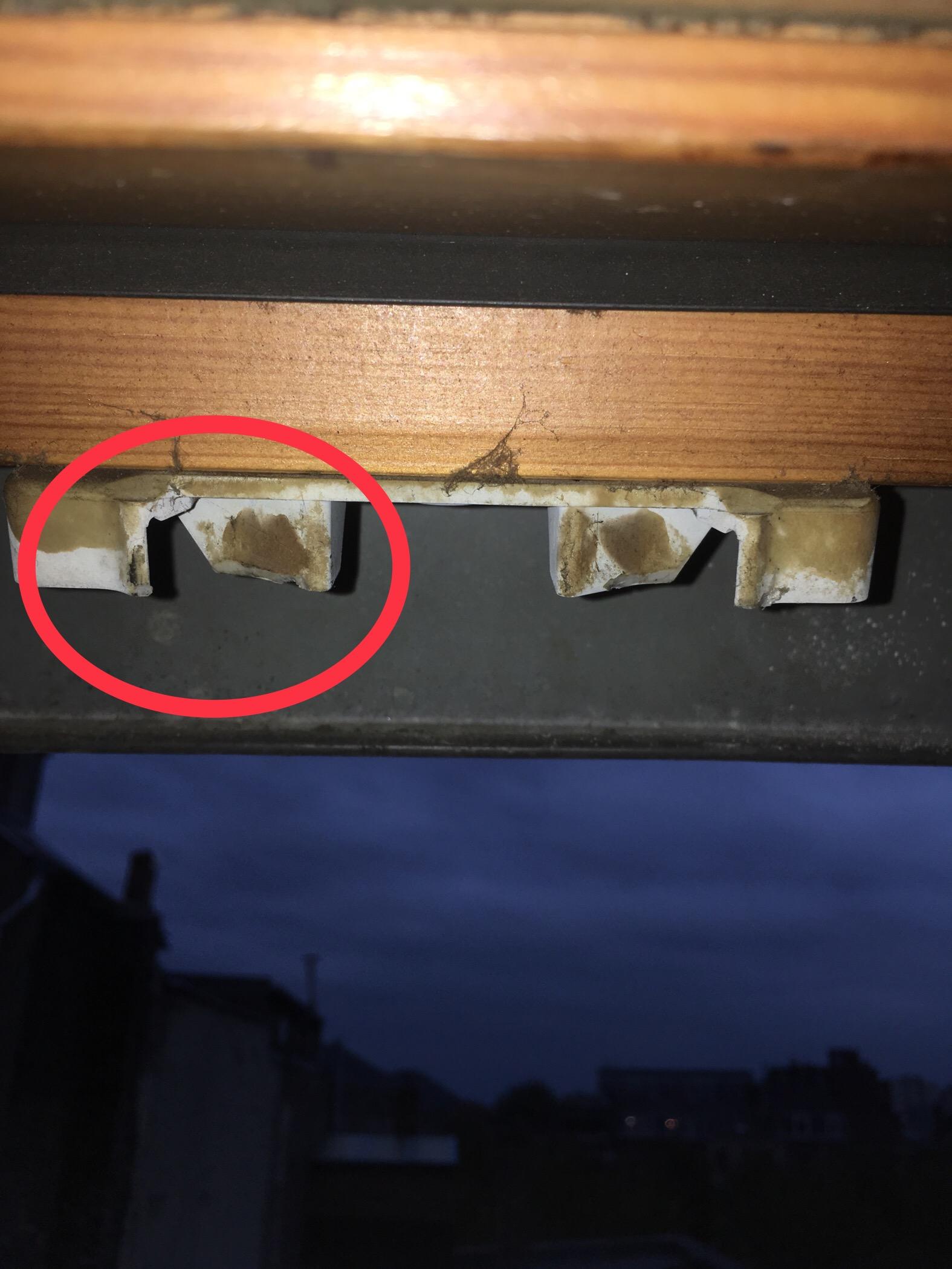 Fenêtre de toit qui ne ferme pas