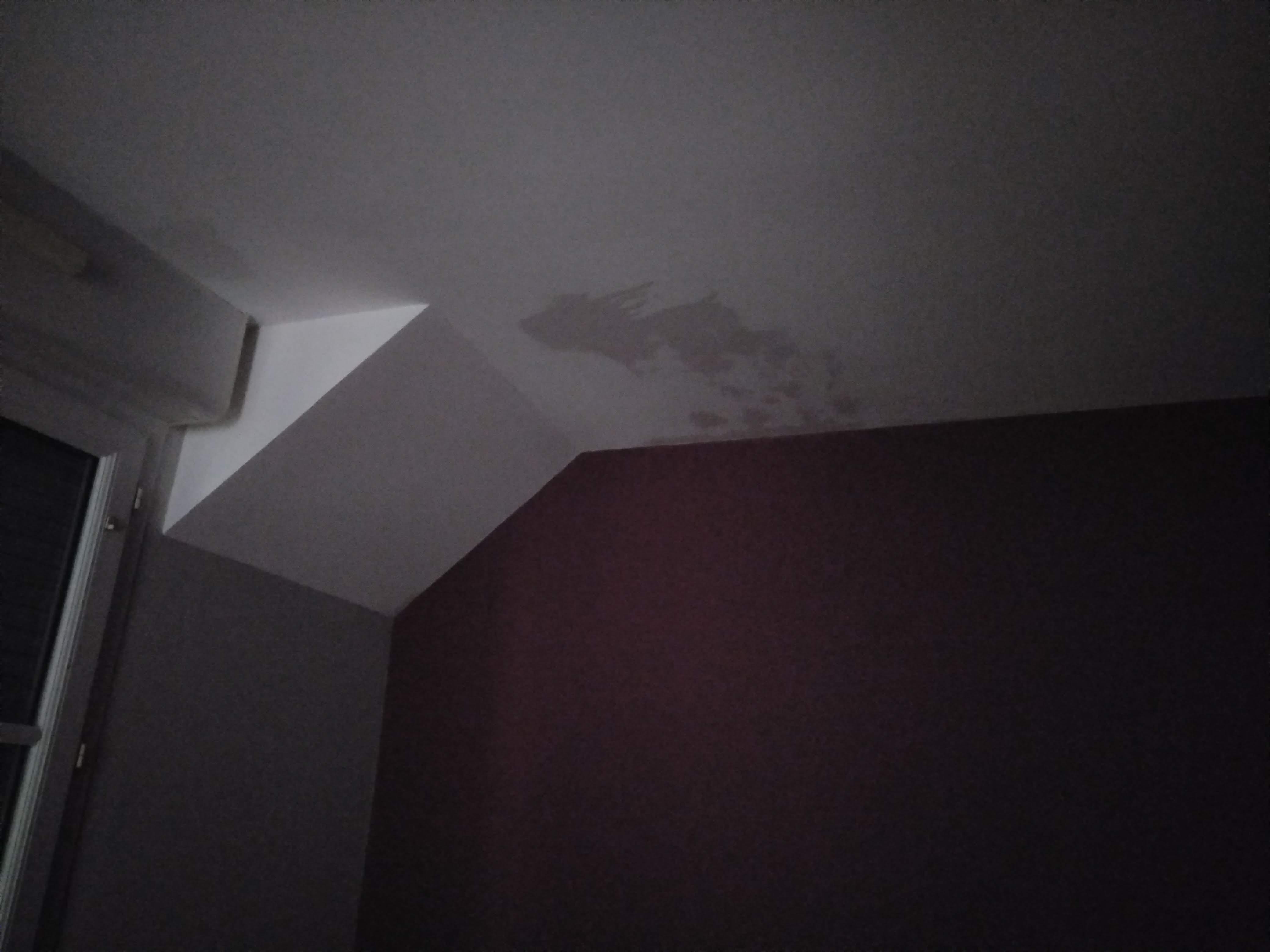 Fuite au plafond / combles