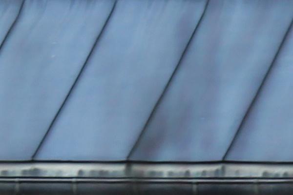 oxydation sur une toiture zinc