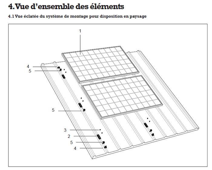 Conseil fixation panneau solaire sur bac acier