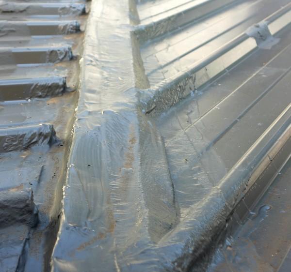infiltration sur la noue d'un toit bac acier (2020)