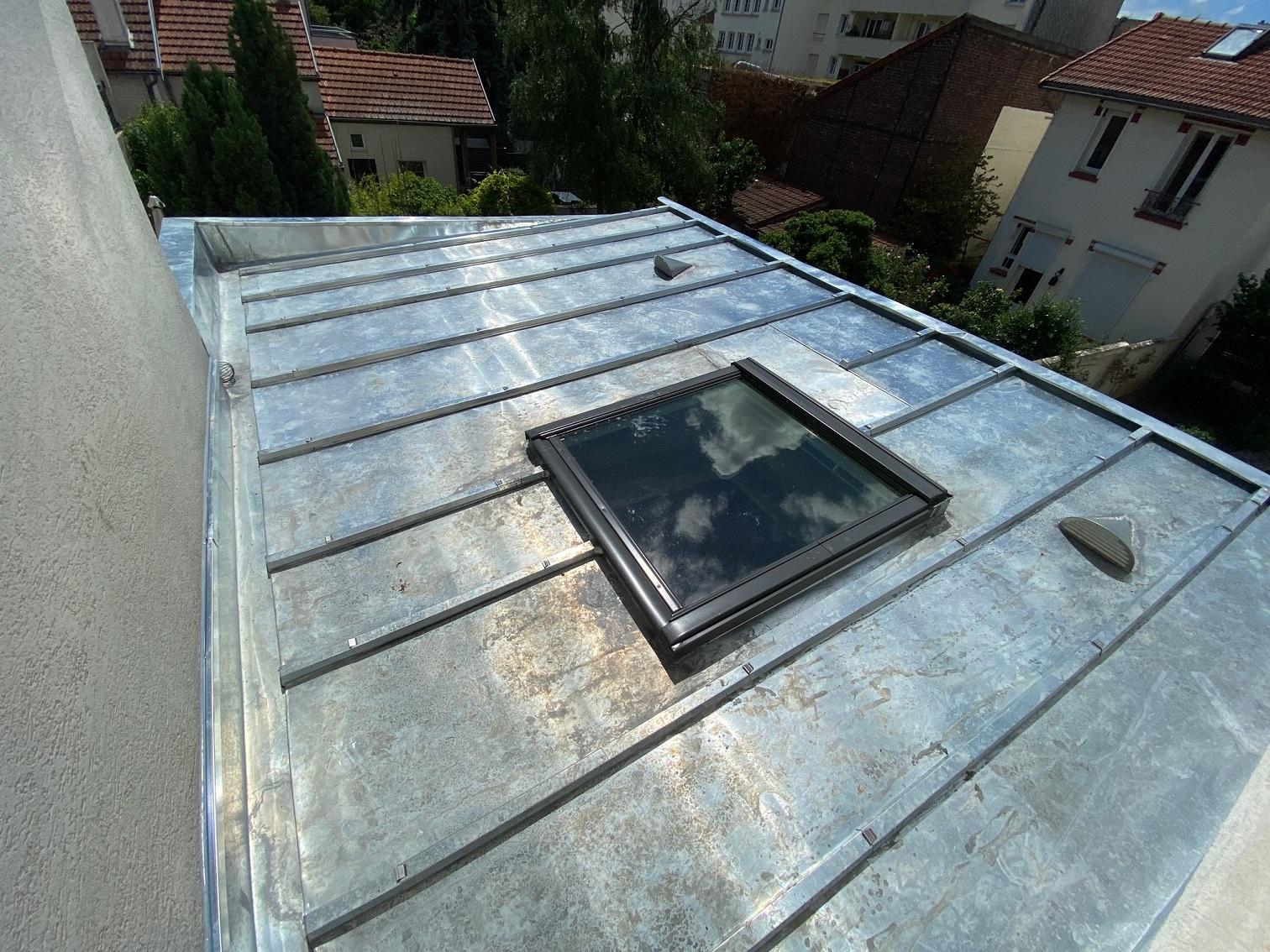 Fuite sur toiture Zinc neuve